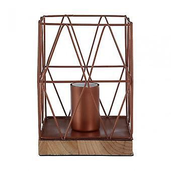 Premier Home Bode Copper Wire Table Lamp, Wood, Copper