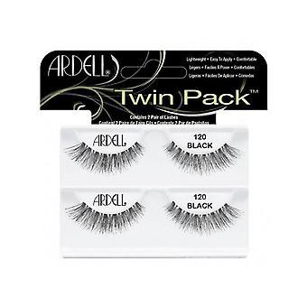 Ardell Twinpack 120 Black Easy To Apply Full False Eye Lashes