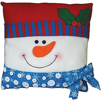 Snowman Pillow Felt Applique Kit 15