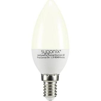 LED E14 Candle 3 W = 25 W Warm white (Ø x L) 37.50 mm x 99 mm EEC: A+ Sygonix 1 pc(s)