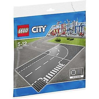 LEGO® City 7281 T-Junction And Curved Road Plates