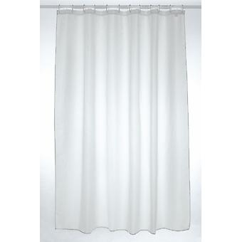 White Plain Polyester Shower Curtain 180 x 210cm