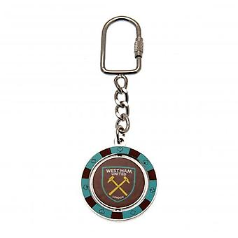 West Ham United Spinner Keyring PC