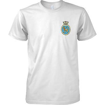 HMS soberba - descomissionado cor de t-shirt do navio da Marinha Real