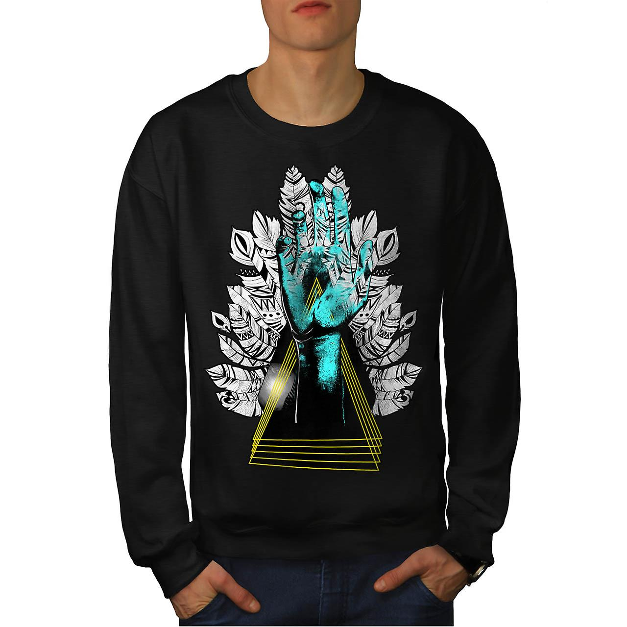 Sublime Nature Fashion Men Black Sweatshirt | Wellcoda