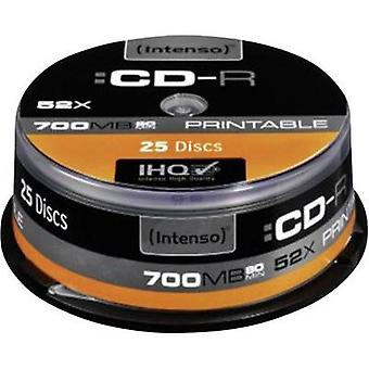 Blank CD-R 80 700 MB Intenso 1801124 25 pc(s) Spindle Printable