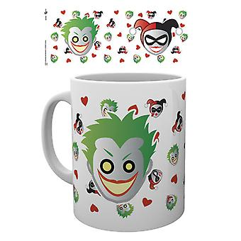 DC Comics Emoji Harley und Joker-Becher