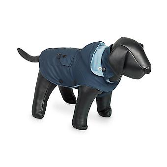 Nobby Mellow Dog Coat Blue With Hood 48cm