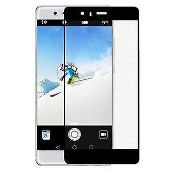 Fuld dækning buet 3D hærdet glas skærm protektor For Huawei P9 sort