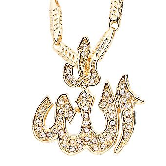 Iced Out Bling Hip Hop Kette - ALLAH gold