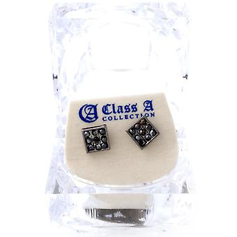 Iced out bling earrings box - SQUARE black