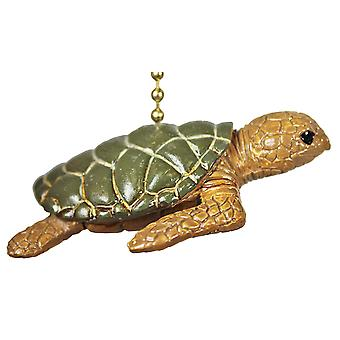 Tropical Reef Ocean Sea Turtle Tiki Ceiling Fan or Light Pull