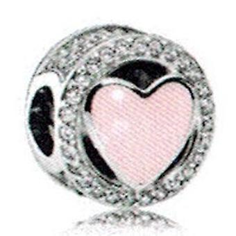 Pandora Pink Wonderful Love Charm - 792034CZ