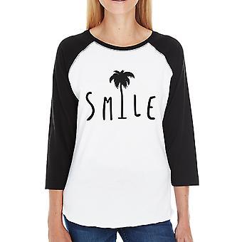 Palm Tree honkbal Tee glimlach voor vrouwen uniek Design zomer Top
