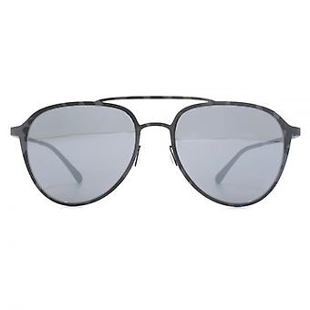 Italia Independent I-Metal 0254 Pilot Sunglasses In Grey
