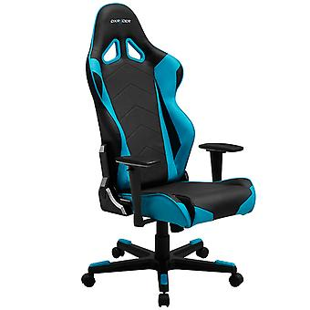 DX Racer DXRacer OH/RE0/NB High-Back Racing Office Chair Video Rocker Gaming chair PU(Black/Blue)
