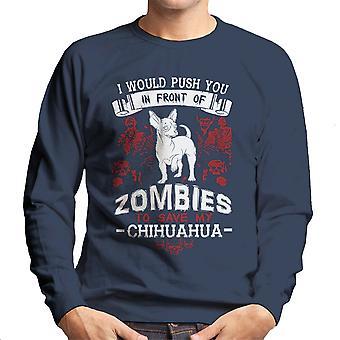 Chihuahua Zombies Herren Sweatshirt