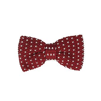 Marcell Sanders men fly loop tie cotton knitted look tied Red