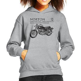 Haynes Owners Workshop Manual Norton Commando 745CC 828CC Kid's Hooded Sweatshirt