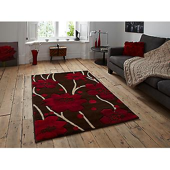 Verona 216 Brown-Red Brown and red Rectangle Rugs Modern Rugs