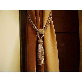 Paar - goldene Perlen dekorative handgefertigte Raffhalter / Tassel / Vorhang Holdback