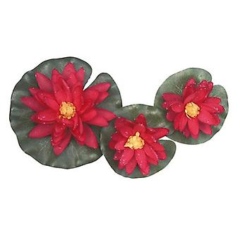 Altadex Set of 3 silk water lilies with water drops