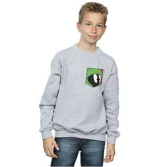 Looney Tunes jongens Marvin de martiaanse gezicht Faux Pocket Sweatshirt