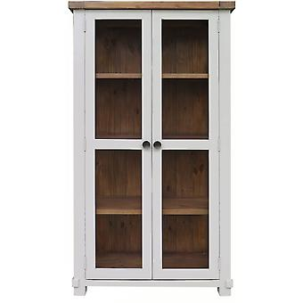 Classic Melton Reclaimed Pine Glazed Display Cabinet