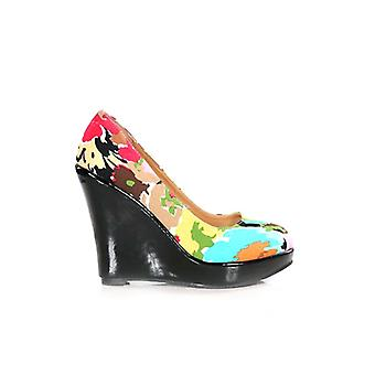 The Fashion Bible Becca Floral Wedge Shoes