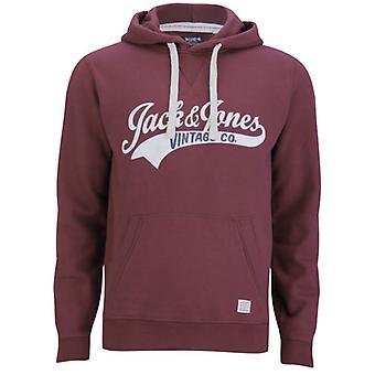 Jack and Jones Access Hood EXP 13 Track & Field Burgundy Hoodie