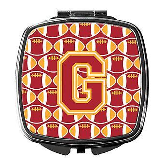 Buchstabe G Fußball Kardinal und Gold Taschenspiegel