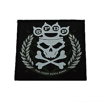 Five Finger Death Punch Knuckles Crown Woven Patch