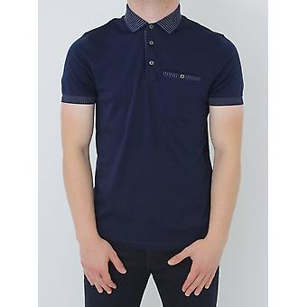 Ted Baker Rickee Solid Collar Polo - Navy