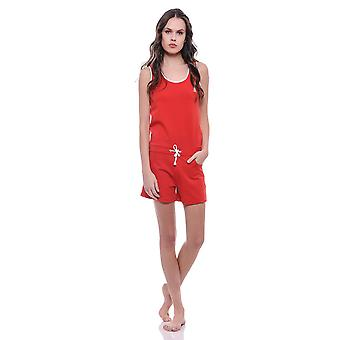 Streetfly jumpsuit short fitted Red