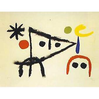Le Petit Chat 1951 Poster Print von Joan Miro (35 x 27)