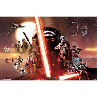 Star Wars The Force erwacht - Gruppe-Poster-Plakat-Druck