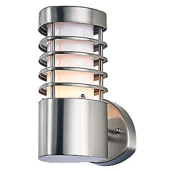 Modern Stainless Steel Low Wattage Outdoor IP44 Rated Wall Light