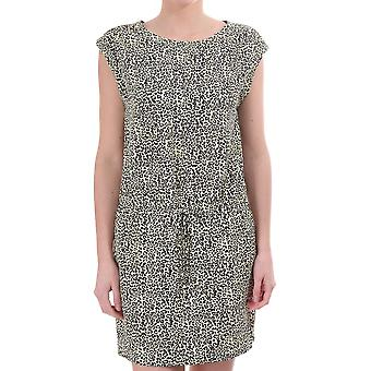 Maison Scotch Leopard Print Dress Ss z krawat wokół talii