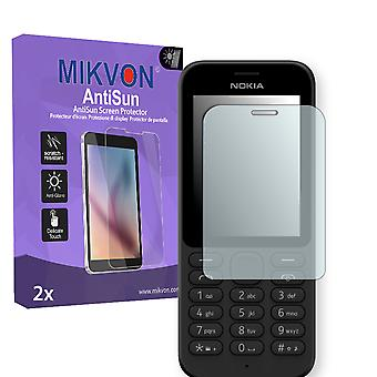 Nokia 215 Dual Sim Screen Protector - Mikvon AntiSun (Retail Package with accessories)