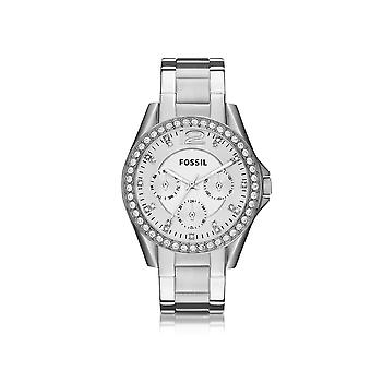 Fossil women's ES3202 silver steel watch