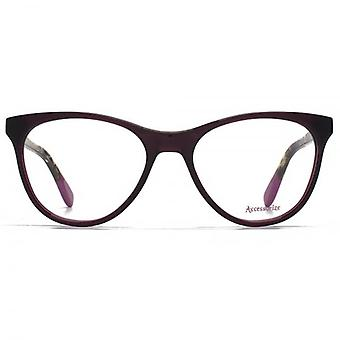 Accessorize Glam Cateye Glasses In Purple