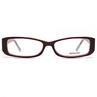 Accessorize Rectangle Glasses In Berry