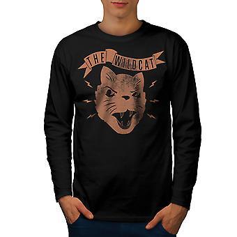 Die Wildkatze Geschworenen BlackLong Sleeve T-shirt | Wellcoda