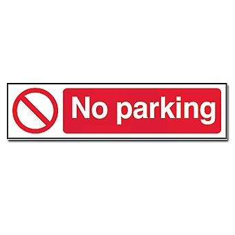 ASEC Self Adhesive `No Parking` Sign 200mm X 50mm