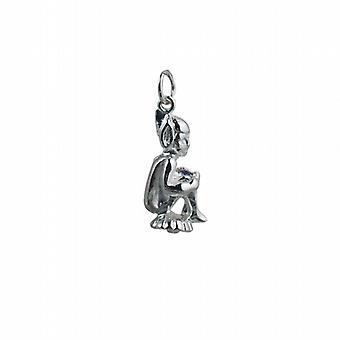 Серебряные 22x11m сидящих Лепрекон кулон или очарование