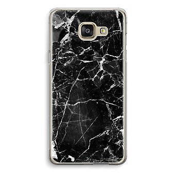 Samsung Galaxy A5 (2016) Transparent Case (Soft) - Black Marble 2