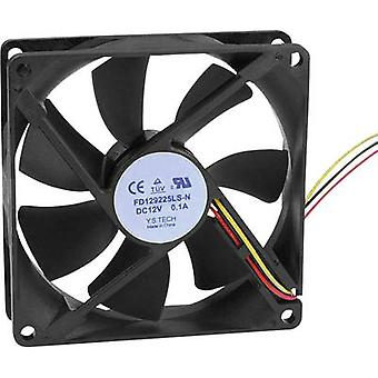 Axial fan 12 Vdc 64.74 m³/h (L x W x H) 92 x 92 x 25 mm