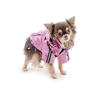 Ancol Small Bite Waterproof Dog Mac In Pink - XX Small