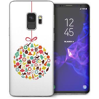 Samsung Galaxy S9 Weihnachten Christbaumkugel TPU Gel Case – weiß
