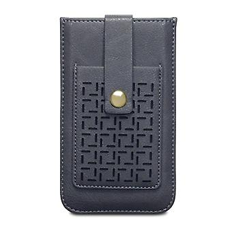 Covert Apple iPhone 6/6S Lexi Perforated Pattern Pouch Case Card Holder-Grey